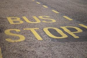 バスのアナウンス広告