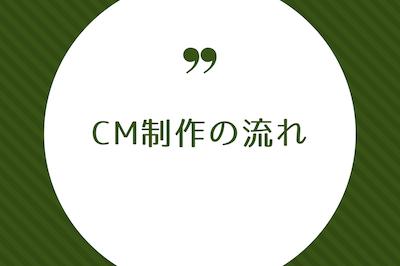 CM制作の流れ